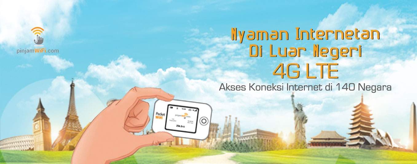 International Pocket WiFi Hotspot Rental - Pinjam WiFi